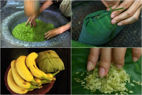 Các công đoạn để làm món cốm làng vòng ngon